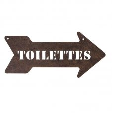 "Antique sign ""Toilettes"" by Antic-line"