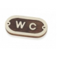 "Decorative Plaque ""WC"" by Artesania"