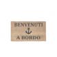 "Mat ""Benvenuti A Bordo"" with anchor by Artesania"