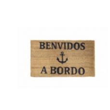"""Mat """"Benvidos A Bord"""" with anchor by Artesania"""
