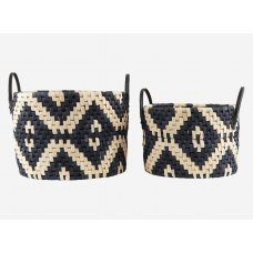 """Set of 2 baskets """"Graphic"""" by Housedoctor"""