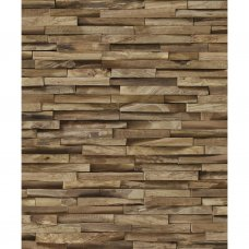 Exotic wood cladding wallpaper by KOZIEL