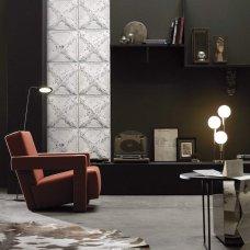 Antique tin tiles wallpaper - model 6 white colored tiles by KOZIEL